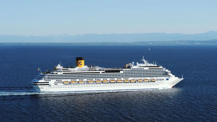 Inauguracion del Crucero Costa Favolosa en Trieste