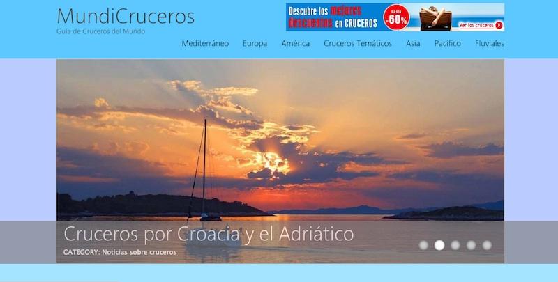 Mundicruceros, la nueva web de Cruceros